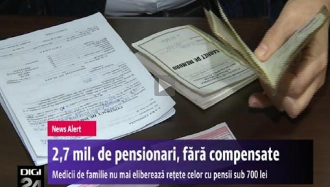 2,7 milioane de pensionari ar putea ramane fara retete compensate