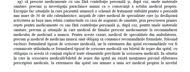 Eliberare RETETA numai consecinta ACTULUI MEDICAL PROPRIU 1