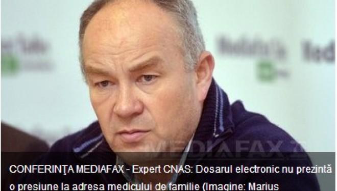 Expert CNAS: Dosarul electronic nu prezinta o presiune la adresa medicului de familie