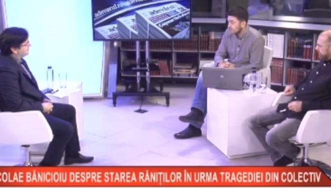Ministrul Sănătăţii, Nicolae Bănicioiu, despre starea răniţilor în urma tragediei din clubul Colectiv