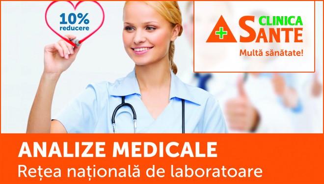 Clinica Sante: Preturi promotionale la toate analizele medicale – Mures