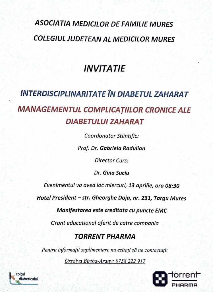 management diabet zaharat
