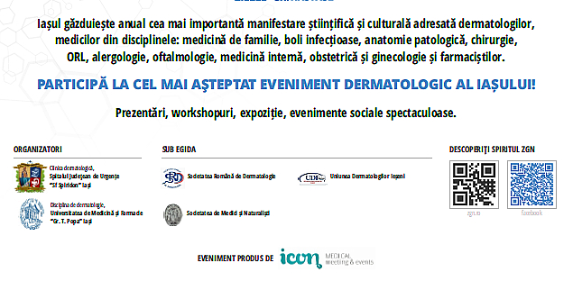 Conferinta anuala de dermatologie  iasi 2