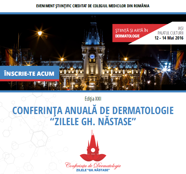 Conferinta anuala de dermatologie  iasi