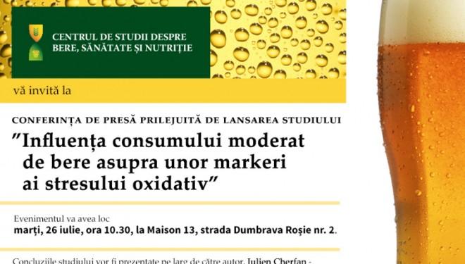 """""""Influența consumului moderat de bere asupra unor markeri ai stresului oxidativ"""""""