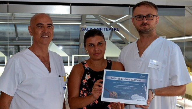 Spitalul Sanador primeste diploma de excelenta pentru rezultate exceptionale in chemoembolizarea hepatica cu microsfere absorbabile TANDEM