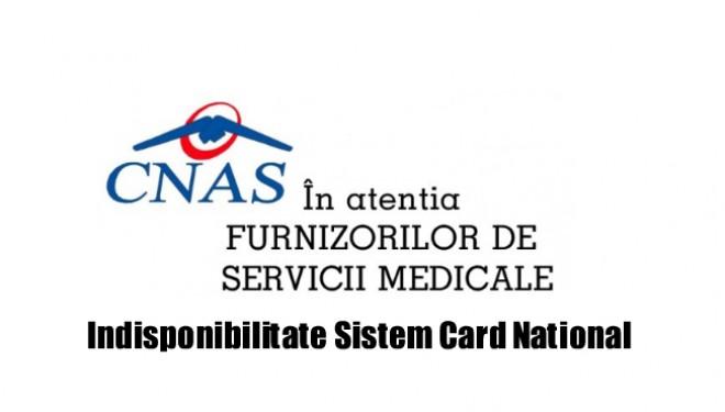 URAAA ! Indisponibilitate Sistem Card National din 01 aug 2016