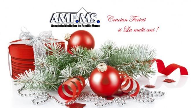 AMFMS va ureaza Craciun Fericit si La Multi Ani!