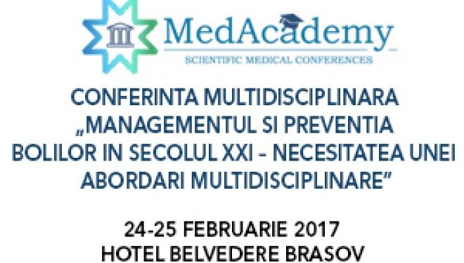 Conferința Națională Multidisciplinară MedAcademy are loc pe 24 şi 25 februarie la Braşov