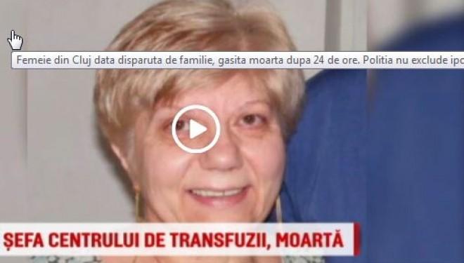 Destin tragic pentru fosta sefa a Centrului de Transfuzii Sangvine din Cluj.