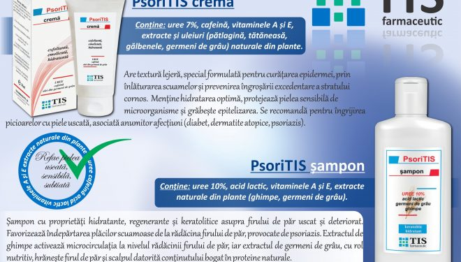 PsoriTIS crema, sampon si lapte restructurant