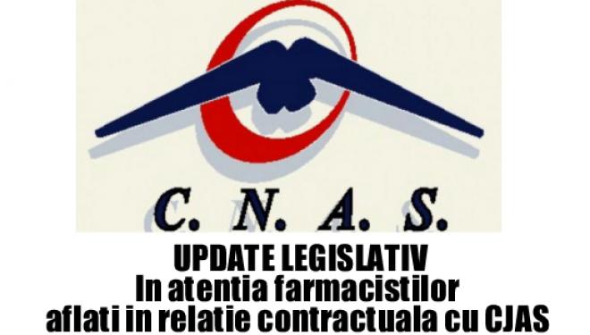 UPDATE LEGISLATIV Farmacisti in relatia contractuala cu CJAS. 31 mai 2017