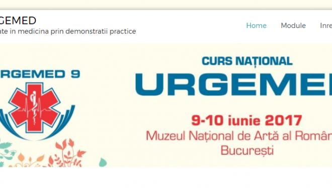 URGEMED 9 – URGENȚE ÎN MEDICINĂ PRIN DEMONSTRAȚII PRACTICE 9-10 iunie 2017, MNAR București