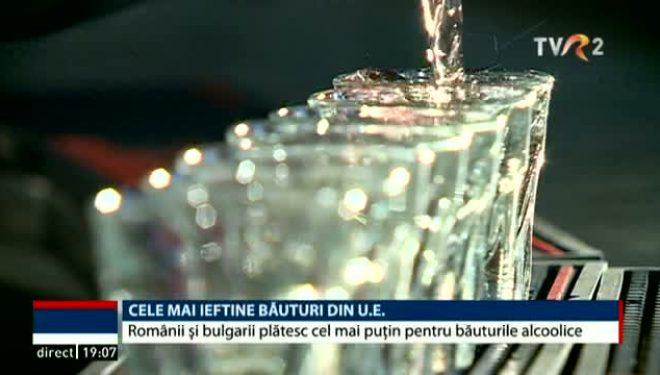 Cele mai ieftine băuturi din U.E. Românii și bulgarii plătesc cel mai puțin pentru băuturile alcoolice