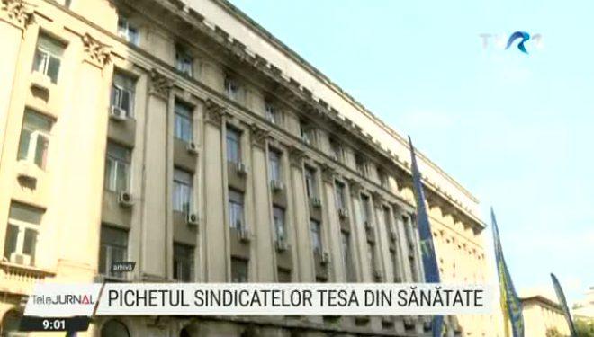 Protest al sindicatelor TESA din Sănătate
