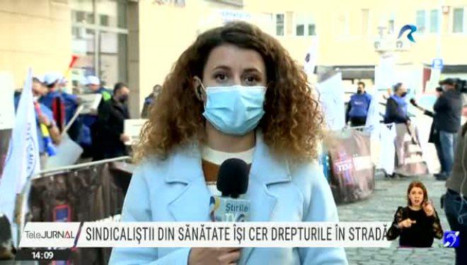 Sindicaliștii din Sănătate își cer drepturile în stradă