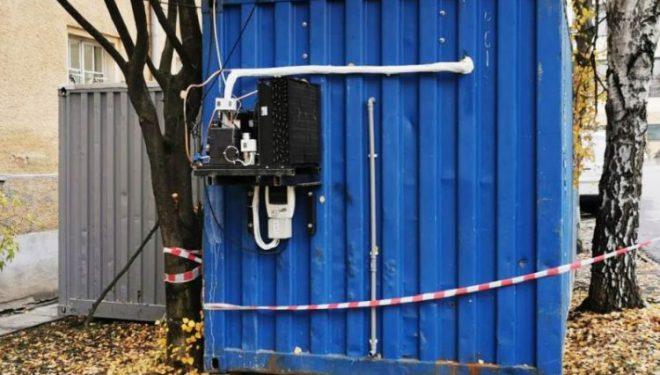 Încă un container a fost adus la Sibiu pentru decedații de COVID-19