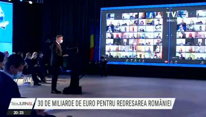 Planul național de redresare și rezilienţă, în dezbatere publică. Klaus Iohannis: Este momentul cel mai bun să ne asumăm reforme ambițioase
