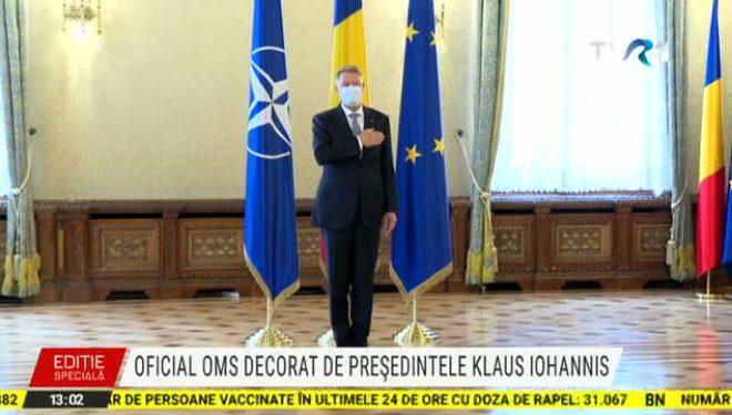 Oficialul OMS, Hans Kluge, decorat la Palatul Cotroceni. Iohannis: Amenințările de tipul COVID-19 nu țin cont de granițe și în fața lor suntem cu toții vulnerabili