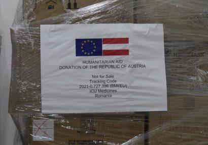 Medicamente pentru bolnavii COVID-19, oferite României de Austria